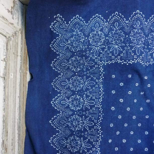 Parna Indigo Resist Dyed Vintage Sheet