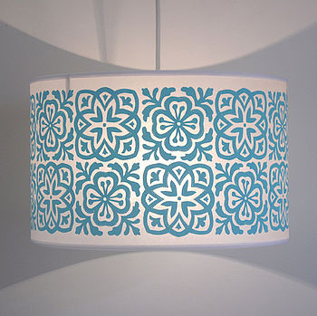 Moroccan Tiles Lightshade from Helen Rawlinson