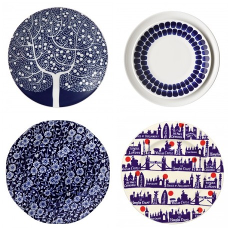 Blue plates from Illustrated Living, Rume, John Lewis and Emma Bridgewater