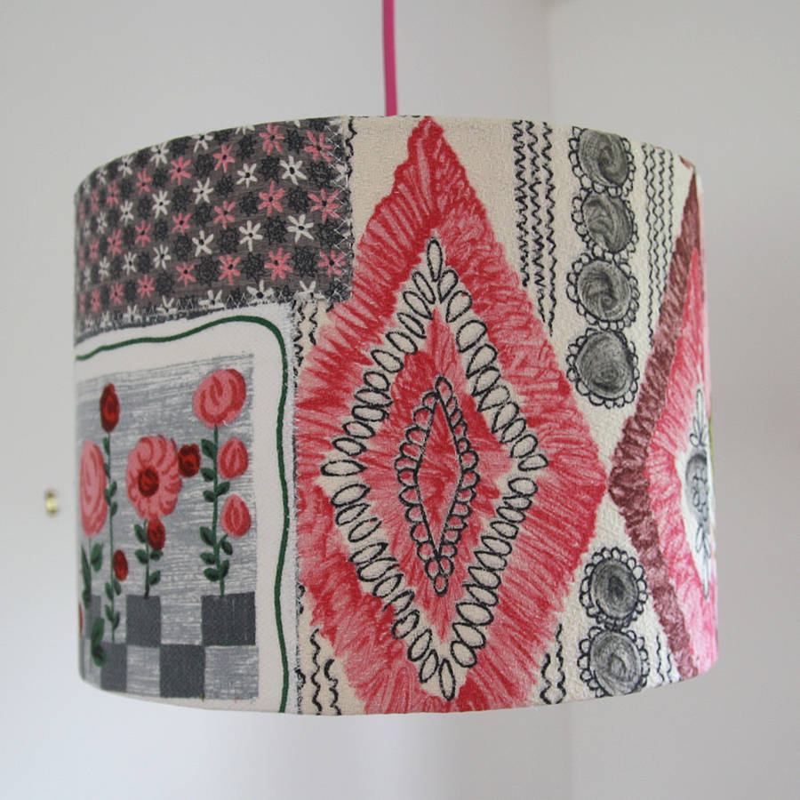 Patchwork lightshade from Folly and Glee