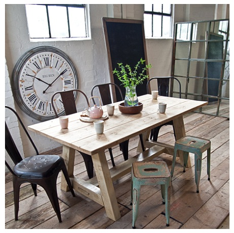 uniche, scaffold dining table