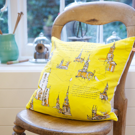 Oranges and Lemons cushion from Tobyboo x Tina Crawford on CultureLabel