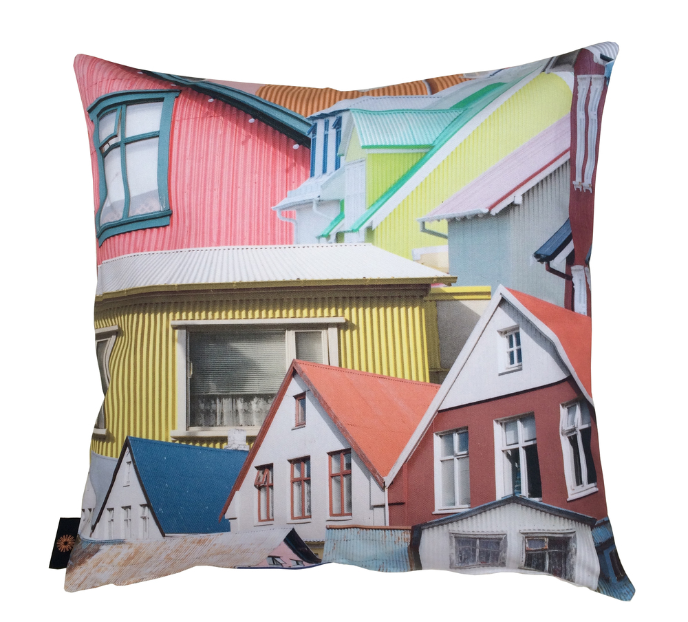 Rekki in Reykjavik cotton cushion