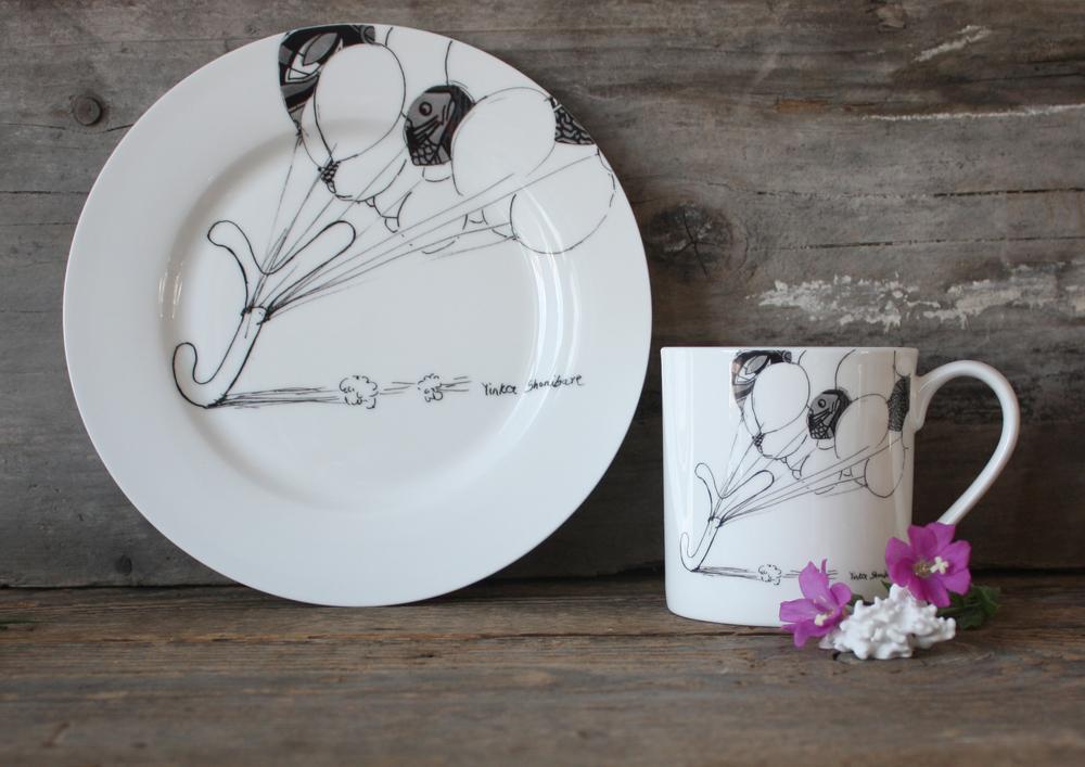 Yinka Shonibare Mug & Side Plate