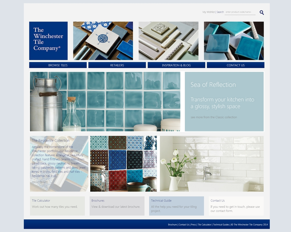 The Winchester Tile Company redesign screenshot