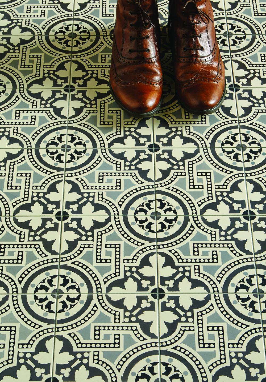 Original Style Extends Geometric Victorian Floor Tile