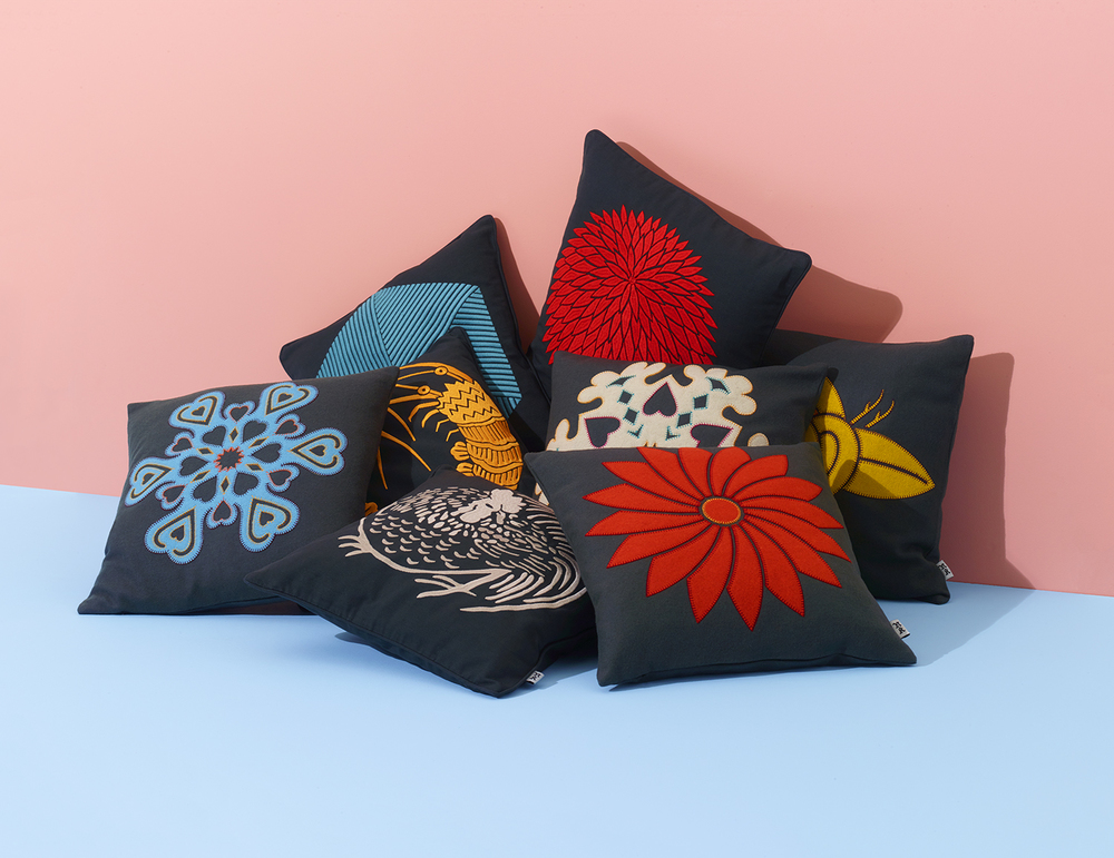 Nazanin Kamali debut cushion collection.