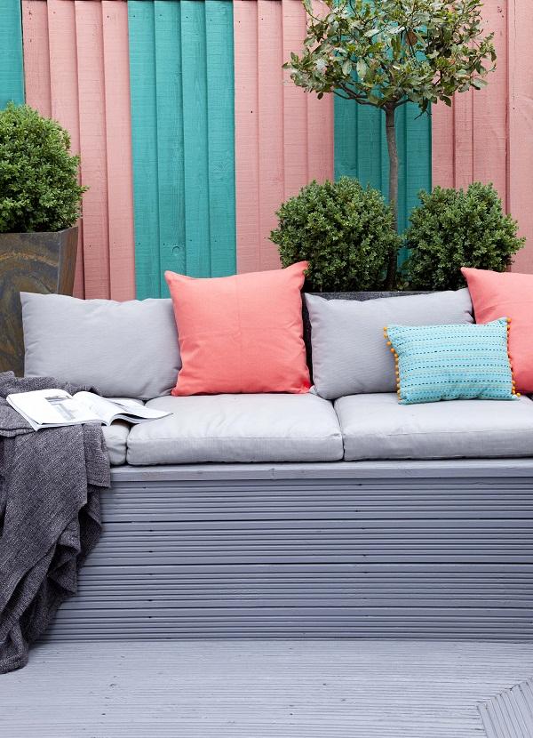 Easy ideas for adding colour to the garden heart home for Garden decking colour ideas