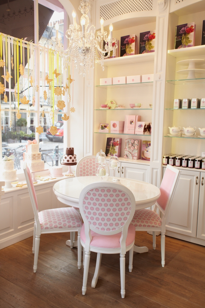 Pretty interiors at Peggy Porschen's Parlour