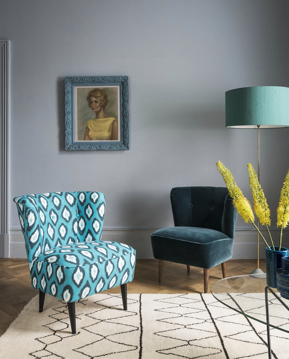 Betty armchair in Electric Ikat Teal £490