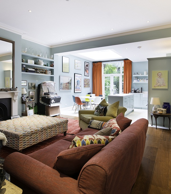 Open Plan Kitchen Lounge And Dining: An Open-Plan London Apartment Filled With Colour And