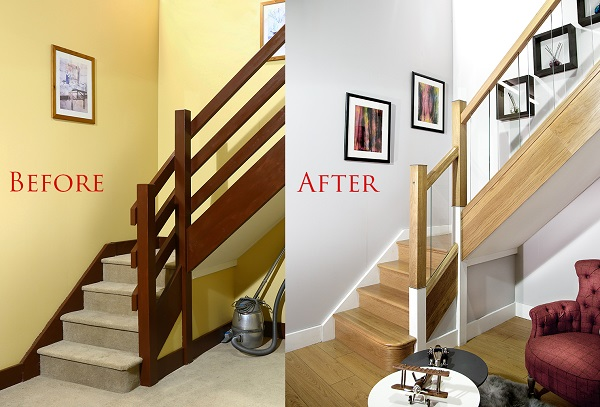 Below, You Can See A Finalised Staircase Renovation Project Done By Damien  Reilly.