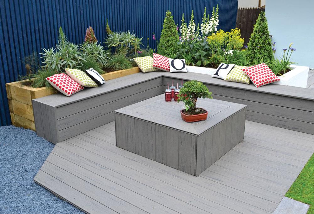 Garden decking the new generation heart home for Composite garden decking