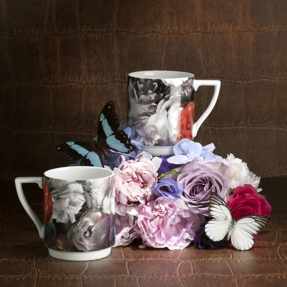 Technicolour Bloom stacking mugs.
