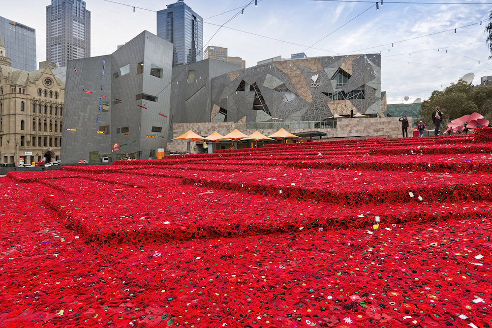 5000 Poppies Project Fed Square April 2015