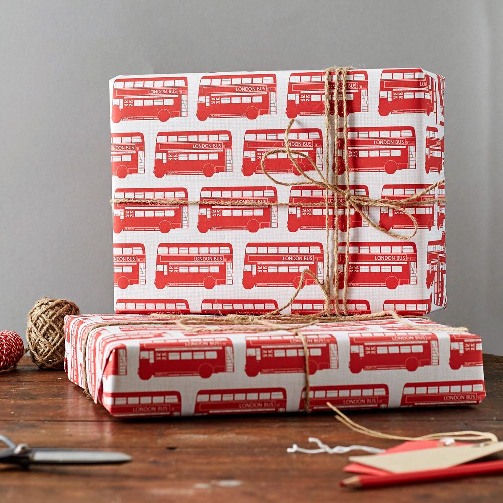 London Bus Gift Wrap