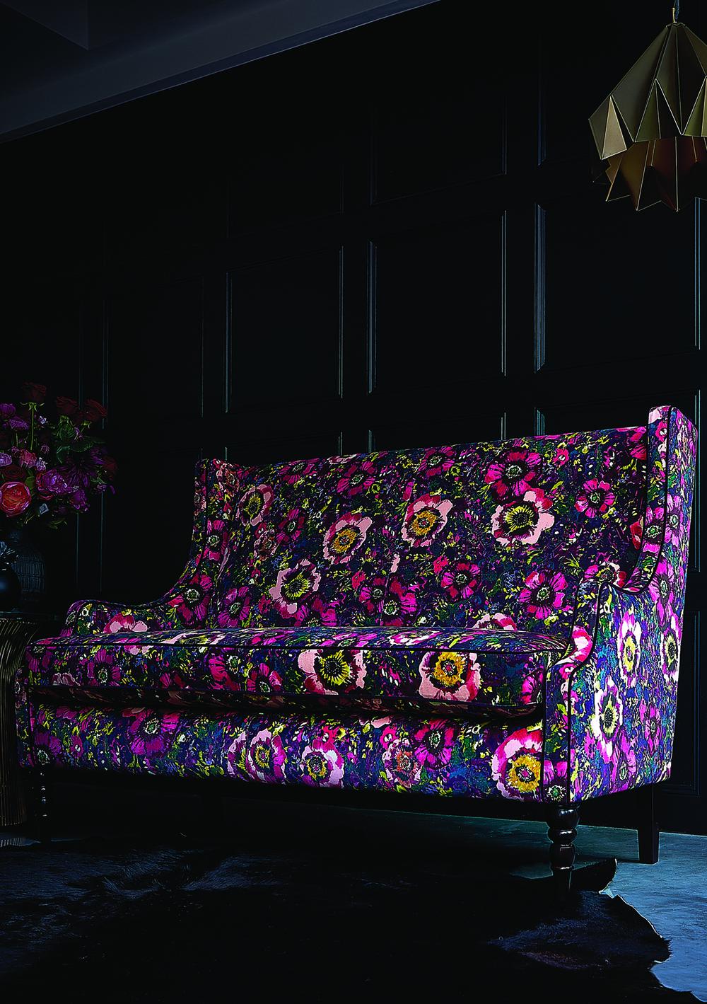 Abbington Large Sofa in Monsoon Daryn Velvet Midnight, £1,759
