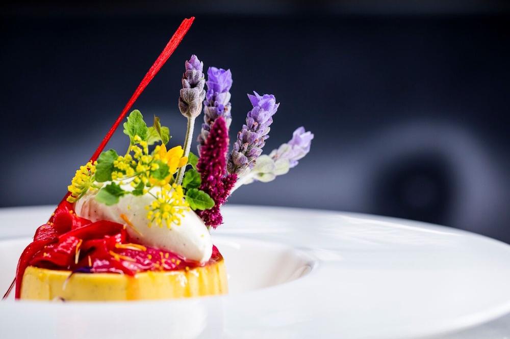 German Gym Blossom City Dessert - Rhubarb and custard brûlée, elderflower ice-cream.jpg