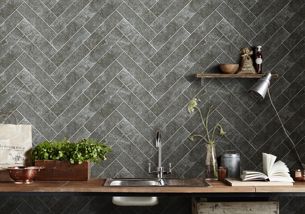 Tiles with texture heart home for Traditional kitchen wall tiles