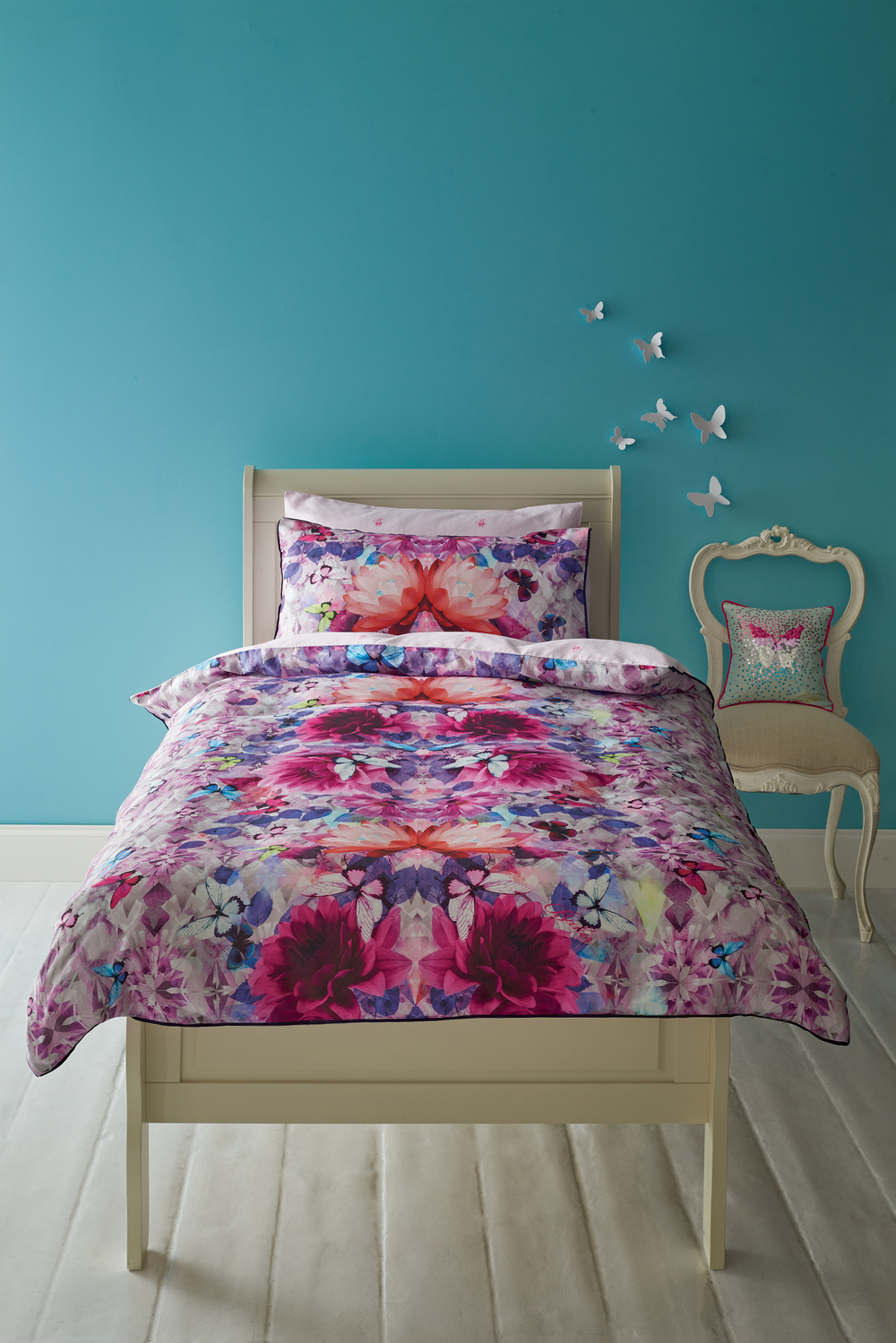 Crystal floral duvet set, £50.