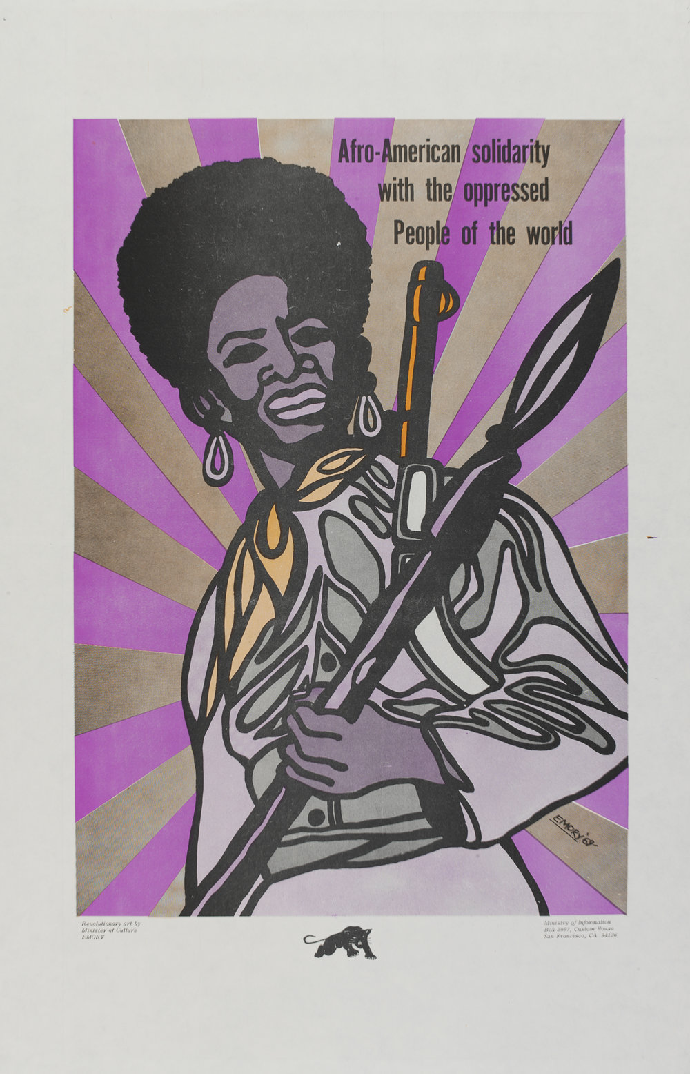 Afro-American Solidarity poster by Emory Douglas, 1969, Photo (c) Victoria and Albert Museum, London