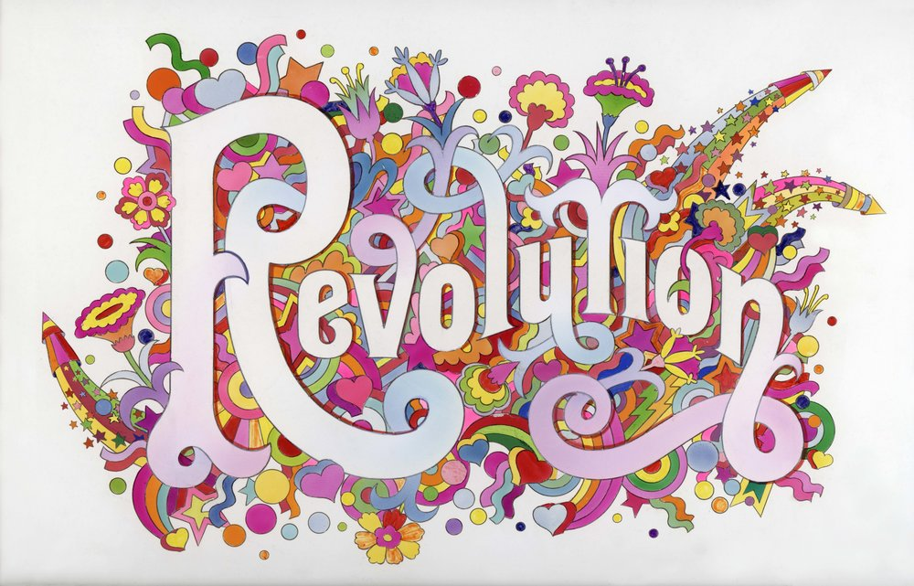 The Beatles Illustrated Lyrics, 'Revolution' 1968 by Alan Aldridge © Iconic Images, Alan Aldridge
