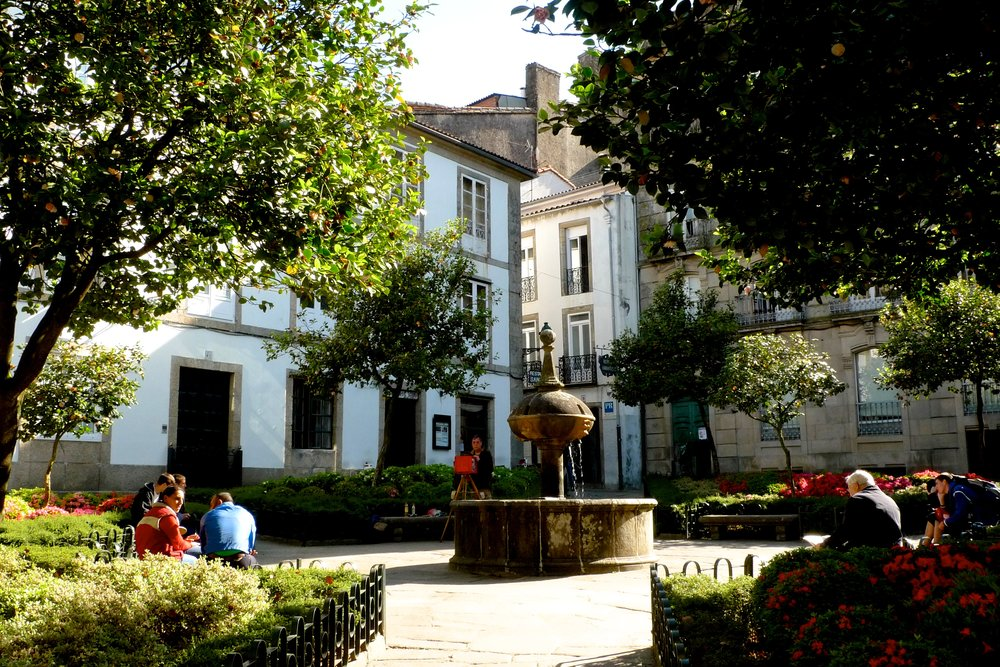 Square in old Santiago