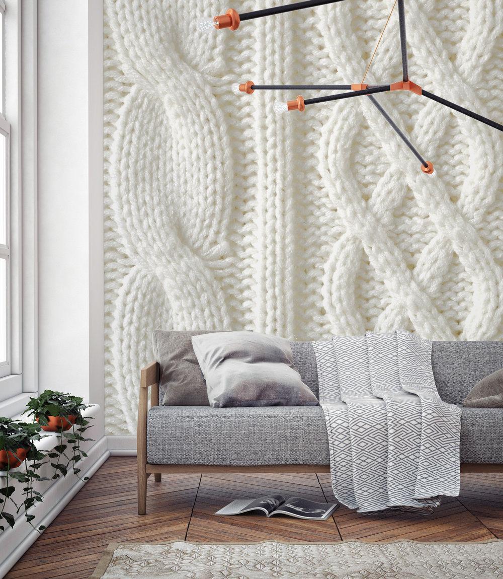 Knit Wall Murals Heart Home