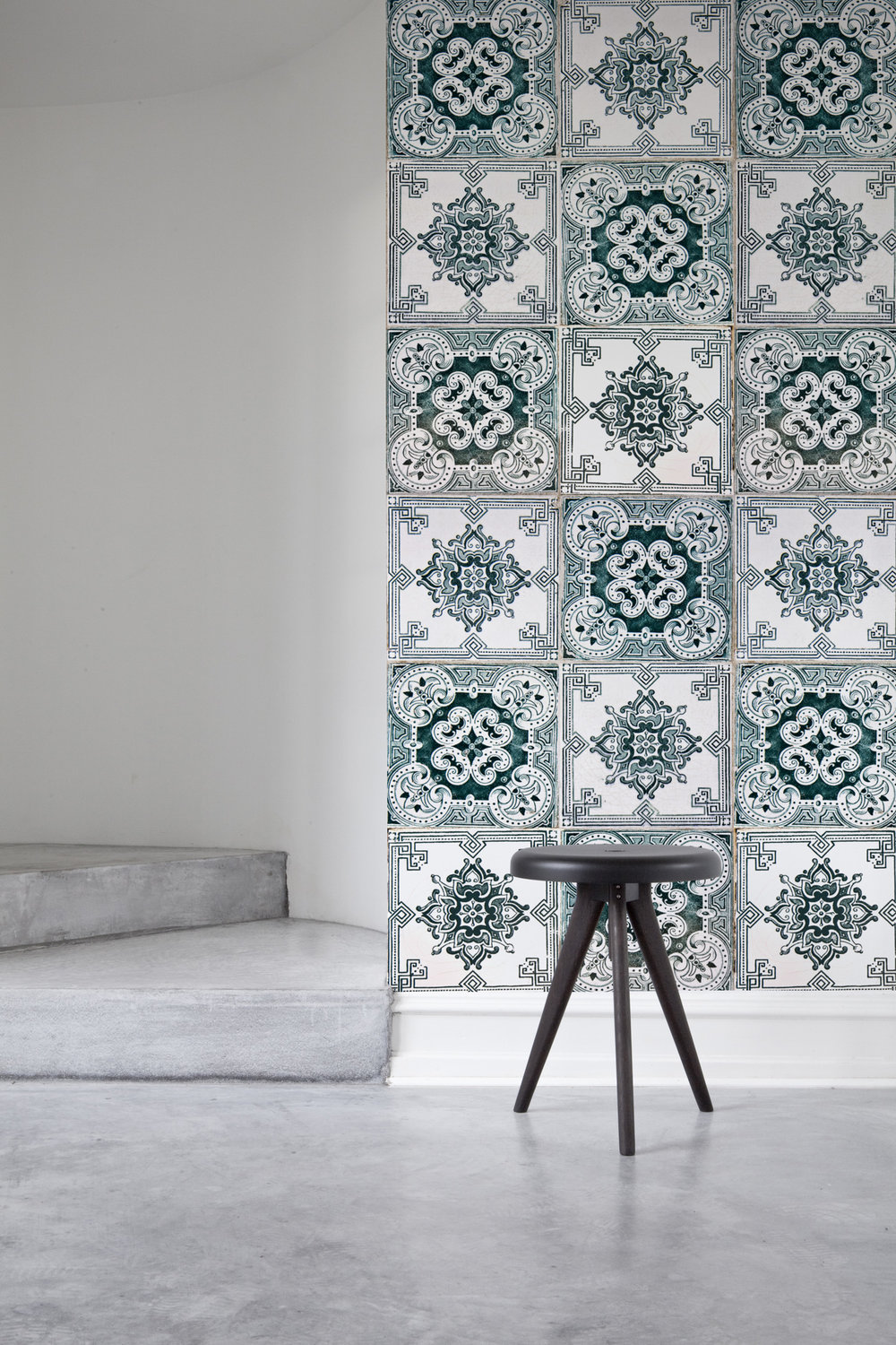 on trend tile effect wallpaper heart home classic tiled wall murals which use one or two colour combinations set against a white background to create standout mosaic designs that will add a