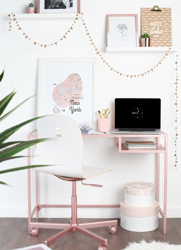 Quot Ikea Hack Quot Create A Rose Gold Desk Heart Home