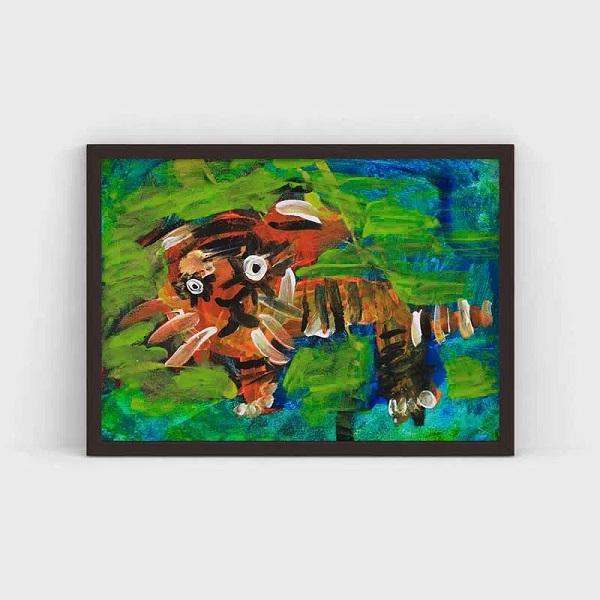 Artist ‣ Mikhail Age ‣ 4 Title ‣ Tiger Location ‣ Yerevan, Armenia
