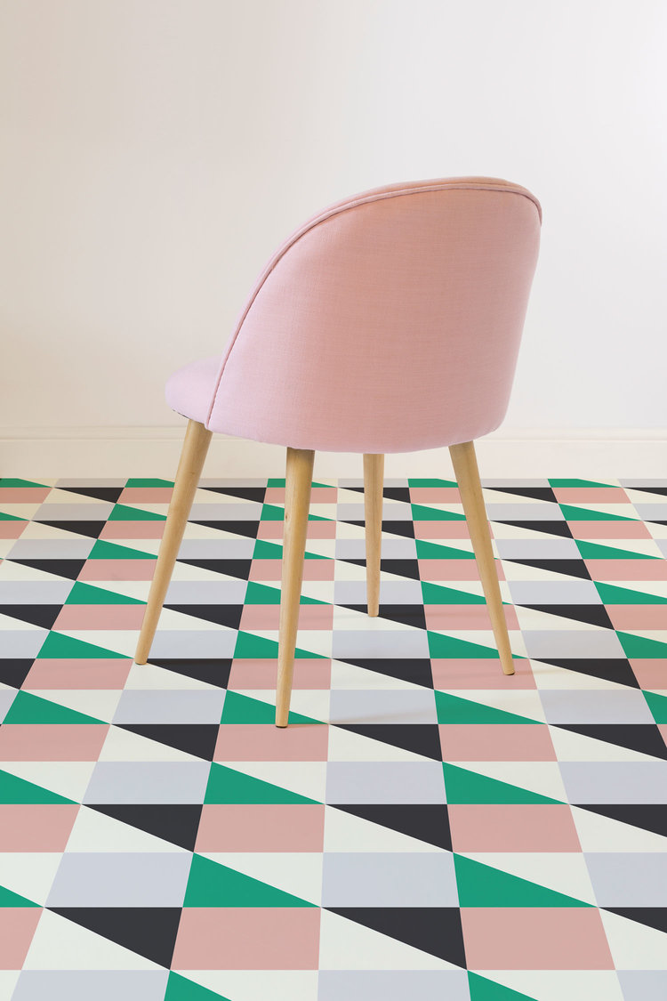 Geometric vinyl flooring heart home funky vinyl flooring in your home with artafloors geometric pieces encompassing a whole spectrum of colour and design its easy to find the perfect dailygadgetfo Choice Image