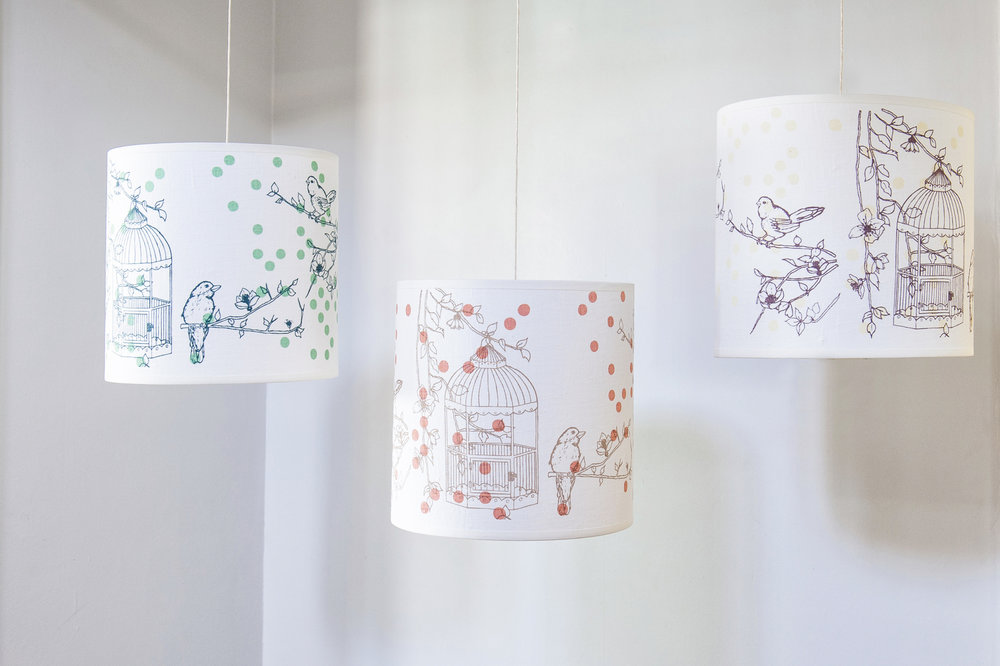 Laura Felicity Design, Dotty Bird Ceiling Lampshade, Collection.jpg