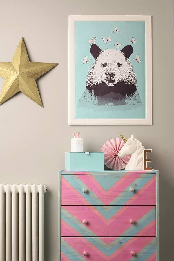 Ikea hack - Colour Wash Chevron Chest of Drawers (3).jpg