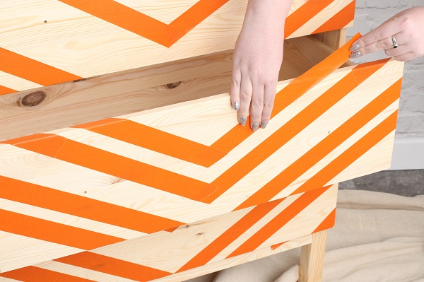 1.5 Ikea hack - Colour Wash Chevron Chest of Drawers.jpg