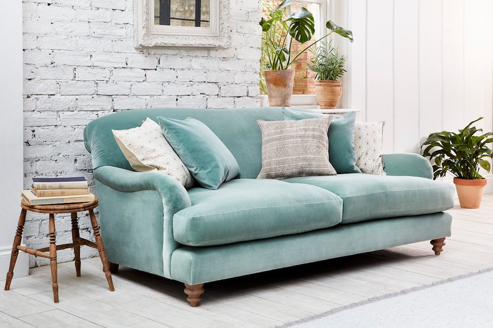 Harrow Midi Sofa in Varese velvet Duck Egg