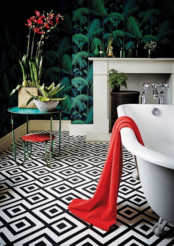 Carpetright Mardi Gras 599 Sagres vinyl tile,£15.99 per square metre.