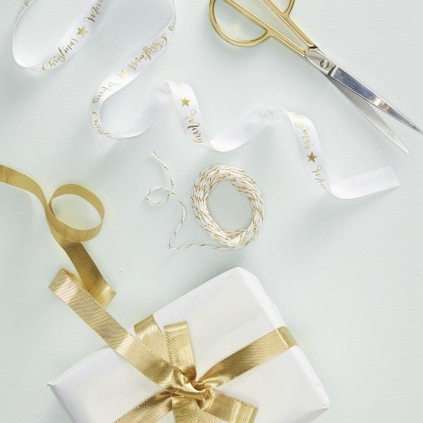Merry Christmas Gold Foiled Ribbon Kit - Metallic Star.jpg