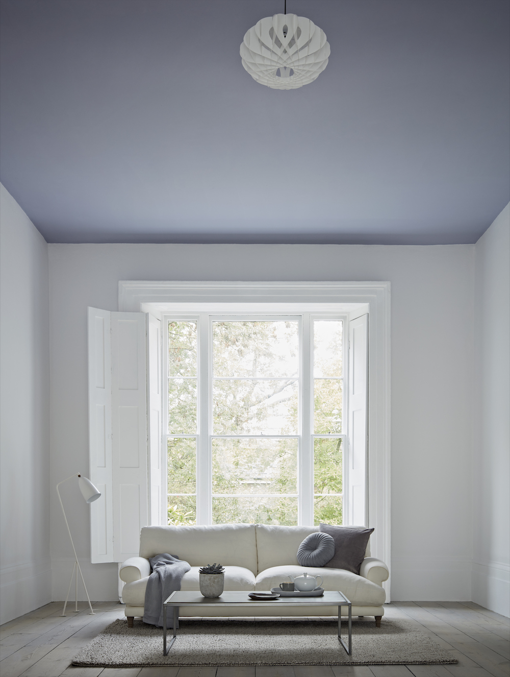 Soft Ash and Chalky White, both Matt Emulsion from £14 for 2.5l