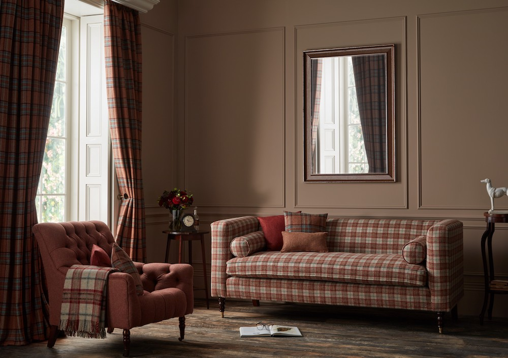 Moon National Trust Collection in Brick & Aqua, from £60.95 per m2