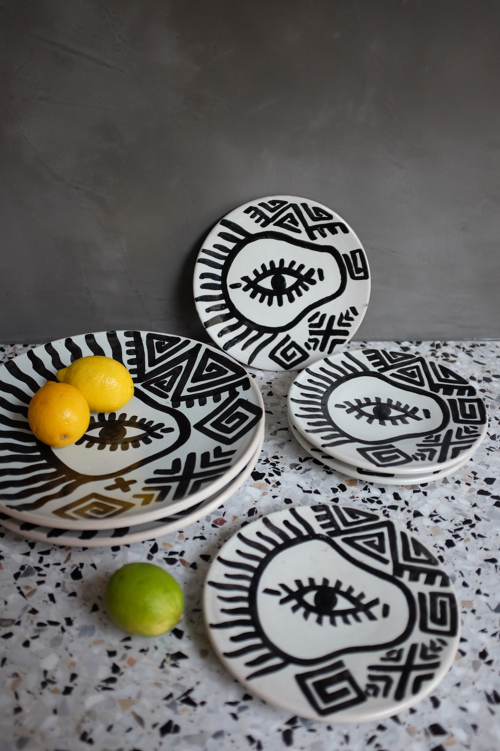 [A New Tribe] Hand painted Moroccan eye plates, from £20.jpg