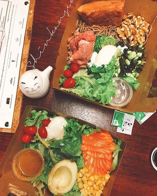Construct-a-meal. A delicious and healthy meal! Hit up http://order.shinkansen.co #shinkanseneats (photo by @prollyfolly)