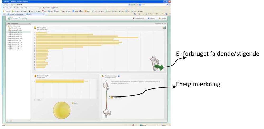 Skærmbillede fra visualiseringsværktøjet eButler