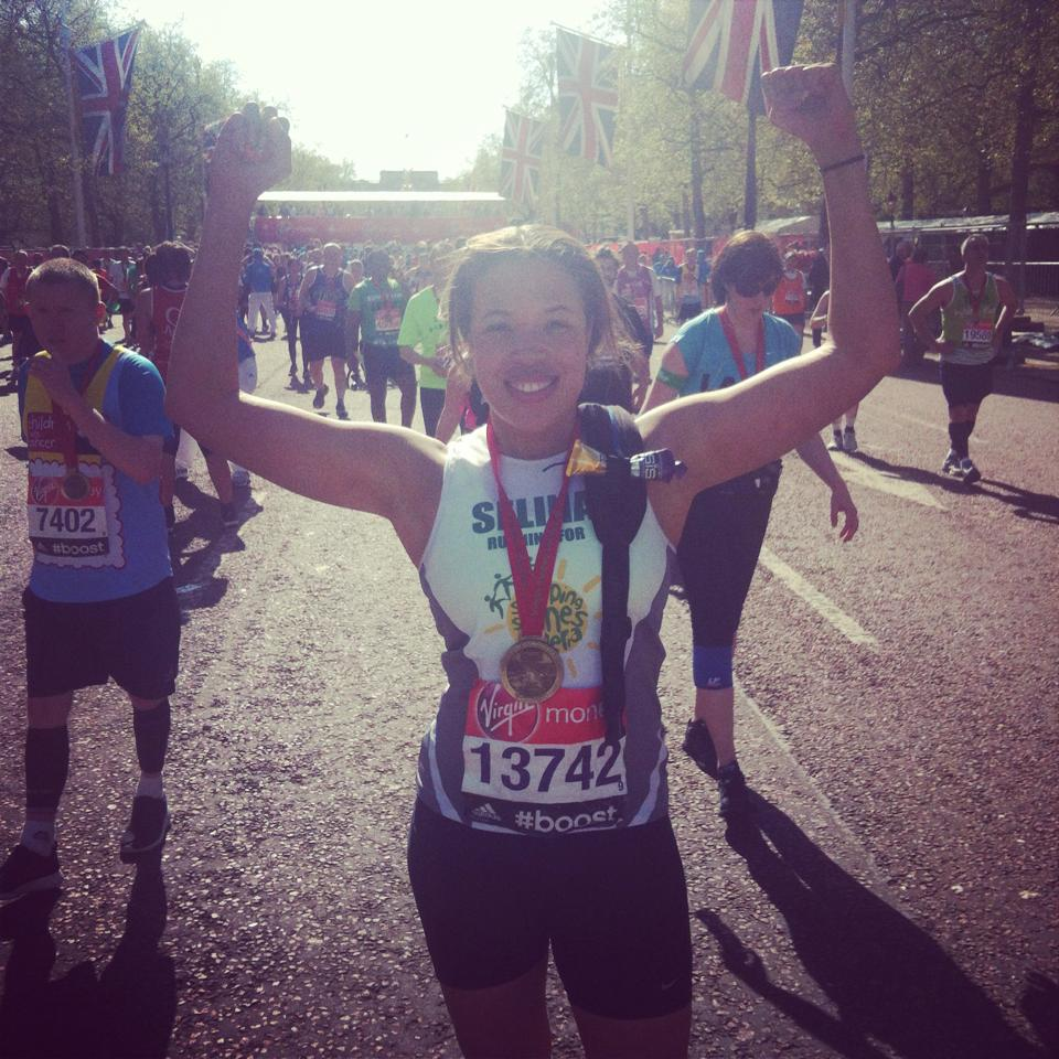 Selina, who ran the London Marathon for us