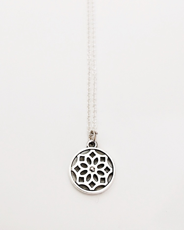 pendant silver lotus necklace af products om elegant mandala sacred