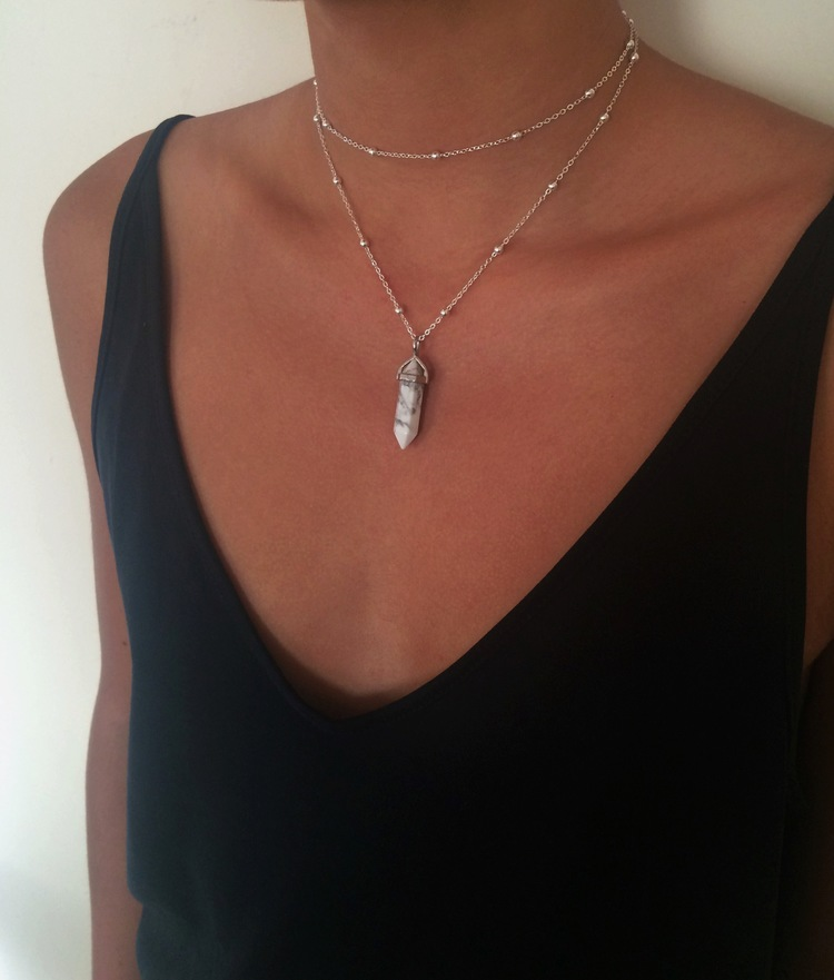 quartz necklace rose silver healing plaza wrapped amazon flower antique dp com top natural crystal