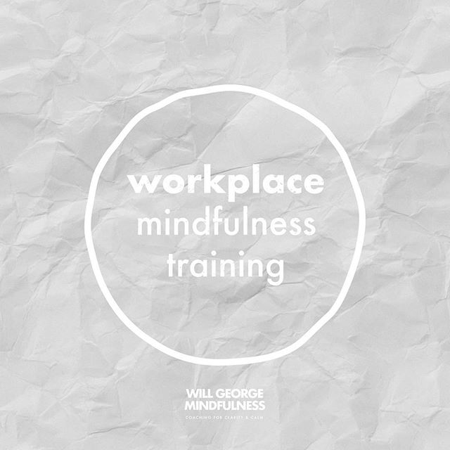 Every business is a different shape and size so my workplace mindfulness training programmes are tailored to each organisation or team.  Find out more by visiting the Courses & Coaching page on my website (link in bio). #mindfulness #coaching #wellbeing #meditation #mindfulworkplace #mindfulnessatwork