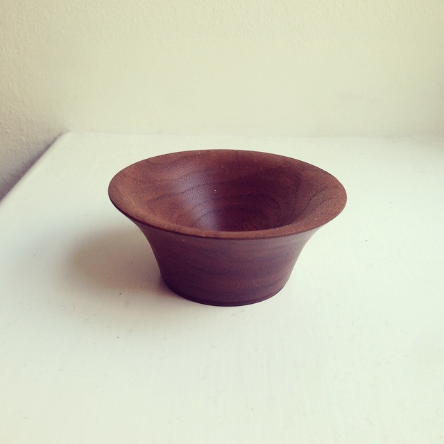 Ring Dish, Black American Walnut