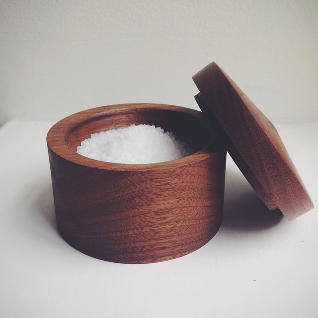 Salt Cellar, Black American Walnut