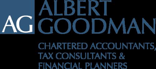 Albert Goodman Logo All Blue Strapline.png